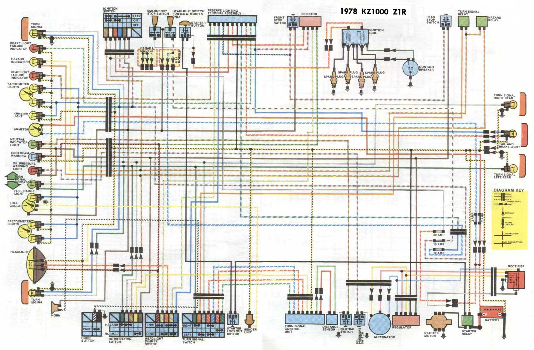 Wiring Diagram Kawasaki Kz1000 Z1r Honda Cb750 Wire F9 1978 Automotive Block U2022 Dorable